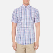 Polo Ralph Lauren Men's Checked Short Sleeve Shirt - Pink/Blue