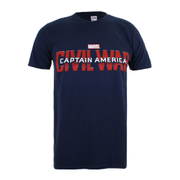 Marvel Captain America Civil War Logo Heren T-Shirt - Navy