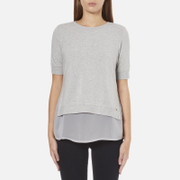 BOSS Orange Women's Texplora Layered Top - Grey