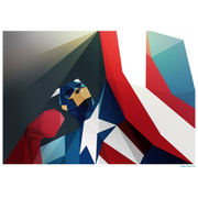 Captain America Inspired Illustrative Art Print - 11.7 x 16.5 Inches