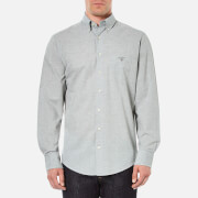 GANT Men's Air Chambray Button Down Shirt - Grey Melange