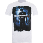 T-Shirt Homme Uncharted 4 Cover Logo - Blanc