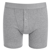 Levi's Men's Long Button Boxers - Grey
