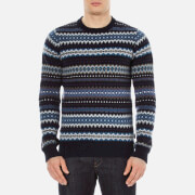 Barbour Heritage Men's Caistown Fairisle Knitted Jumper - Navy