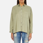 Superdry Women's Tencel Delta Shirt - Salt Wash Khaki
