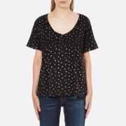 Maison Scotch Women's Loose Fit T-Shirt - Black