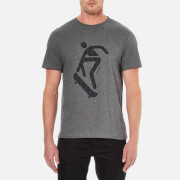 Carven Men's Skateboard Print Short Sleeve T-Shirt - Gris Chine Fonce