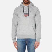 GANT Men's Shield Hoody - Grey Melange