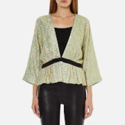 Ganni Women's Emiko Jacquard Jacket - Sea Foam