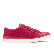 Polo Ralph Lauren Men's Churston Canvas Trainers - Devon Red/Newport Navy