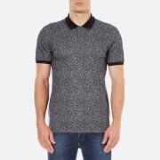 HUGO Men's Dinello Jacquard Polo Shirt - Navy