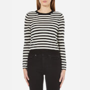 Cheap Monday Women's High Stripe Knitted Jumper - White