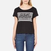 Cheap Monday Women's Had Stripe Logo T-Shirt - Black