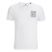 Crosshatch Herren Hicker Graphic T-Shirt - White