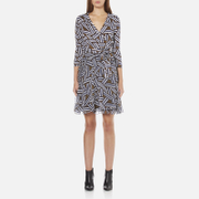 Diane von Furstenberg Women's Irina Dress - Ribbon Rectangles Khaki