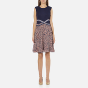 Diane von Furstenberg Women's Rosalie Dress - Midnight/Brown