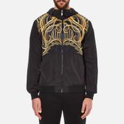 Versace Jeans Men's Printed Hooded Jacket - Black