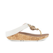 FitFlop Women's Superchain Leather Toe Post Sandals - Urban White