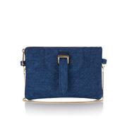 meli melo Women's Thela Clutch Bag With Chain Shoulder Strap - Blue Wash Denim