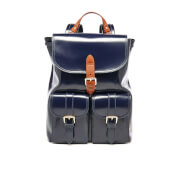 Aspinal of London Women's Oxford Backpack - Blue Moon/Tan