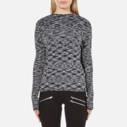 Vero Moda Women's Adinah Long Sleeve Funnel Neck Top - Navy Blazer