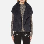 Vero Moda Women's Jayla Fake Fur Waistcoat - Navy Blazer