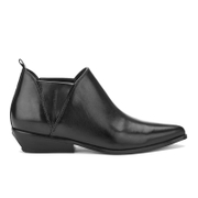 Kendall + Kylie Women's Violet Leather Heeled Ankle Boots - Black