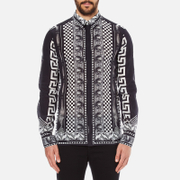 Versus Versace Men's Printed Long Sleeve Shirt - Black/White