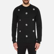 Versus Versace Men's Embellished Crew Sweatshirt - Black
