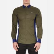 Vivienne Westwood MAN Men's Basic Stretch Poplin Mix Shirt - Green Mix