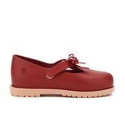 Mini Melissa Toddlers' Classic Bow Flats - Berry