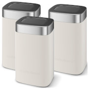 Morphy Richards 974071 Accents Set Of 3 Canisters - Stone