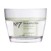 No7 Beautiful Skin Night Cream - Normal to Oily