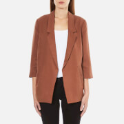 Selected Femme Women's Gavina 3/4 Sleeve Blazer - Rustic Brown