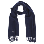 Barbour Men's Plain Lambswool Scarf - Navy