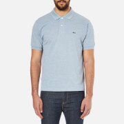 Lacoste Men's Basic Pique Short Sleeve Marl Polo Shirt - Celestial Chine