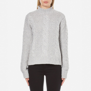 Gestuz Women's Sanni Pullover Grey Cable Knit Jumper - Grey