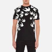 McQ Alexander McQueen Men's Swallow Print Crew T-Shirt - Darkest Black
