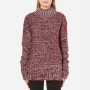 MINKPINK Women's Perfect Timing Skivvy Sweatshirt - Wine Marle