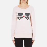 Karl Lagerfeld Women's Kocktail Choupette Sweatshirt - Rose Smoke