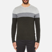 Michael Kors Men's Wool Blend Crew Neck Jumper - Heather Grey