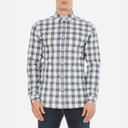 Selected Homme Men's Axel Long Sleeve Shirt - Blueberry/White Check