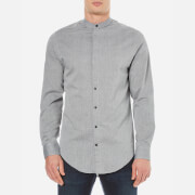 Selected Homme Men's Bone Long Sleeve Shirt - Steel Grey
