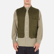 Universal Works Men's Battle Military Waistcoat - Military Olive