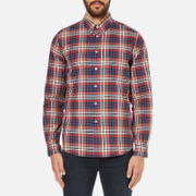 PS by Paul Smith Men's Checked Long Sleeve Shirt - Red