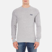 Superdry Men's Orange Label Crew Sweatshirt - Pearl Grey Grit