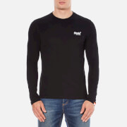 Superdry Men's Orange Label Long Sleeve Top - Black