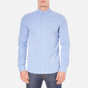 Superdry Men's Long Sleeve Button Down Shirt - Fine Stripe Ice Blue