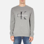 Calvin Klein Men's Crew Neck Sweatshirt - Mid Grey Heather