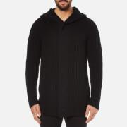 Helmut Lang Men's Wool Blend Heavy Rib Cardigan - Black